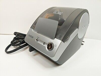 Brother Ql-500 Label Thermal Printer Transfer Cables Powers On Good Condition