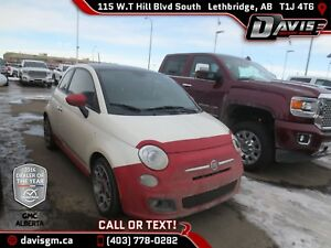2013 Fiat 500 Sport RED LEATHER, NAVIGATION, MANUAL