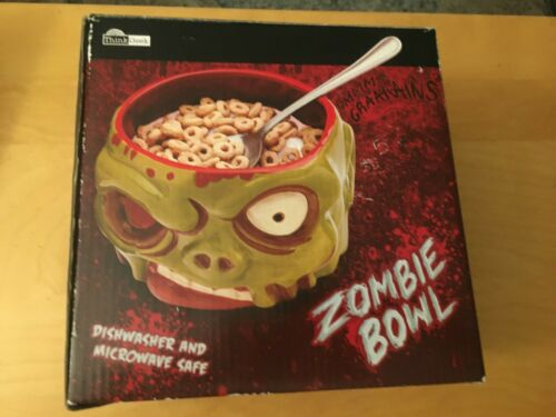 ZOMBIE CEREAL BOWL NEW, OPEN BOX, THINKGEEK, NEVER USED (2 AVAILABLE)