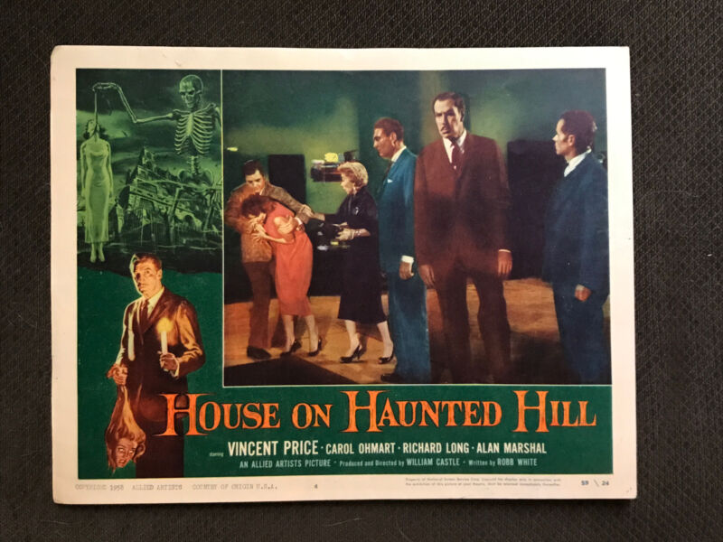 The House On Haunted Hill - Original 1959  Lobby Card - Vincent Price