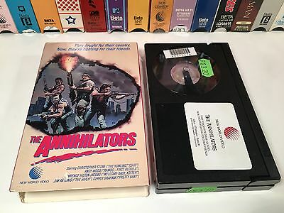 * The Annihilators 80's Action Betamax NOT VHS 1985 Christopher Stone Beta