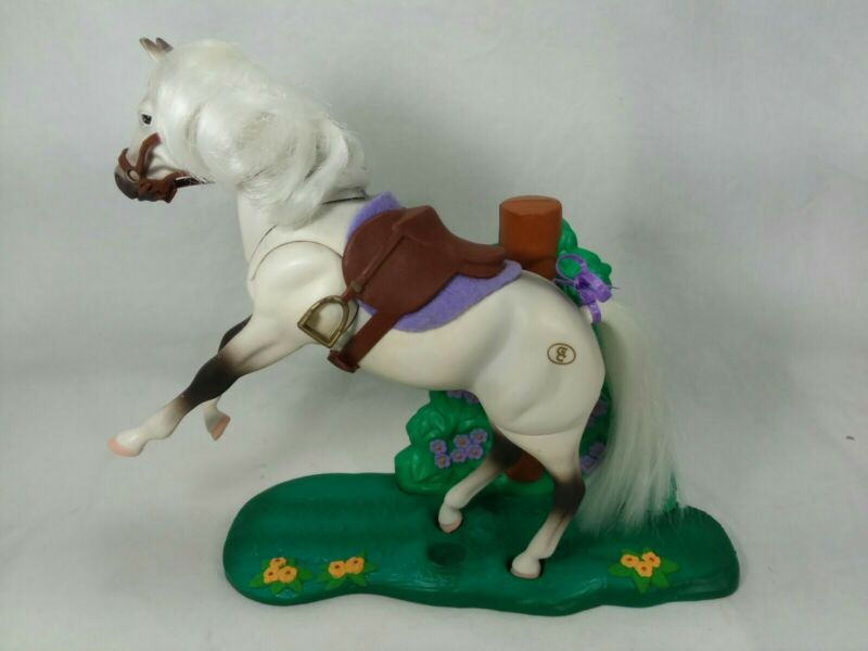 Vintage GRAND CHAMPIONS Triple Action Stallion Horse & Stand  Empire 1997