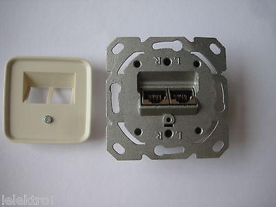 CAT.6 Netzwerkdose Datendose +original Busch Jäger Abd. 1803-02-212 Duro2000