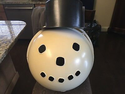 "SHAMROCK PLASTICS ""Christmas Snowman With Top Hat"" LAMP POST COVER"
