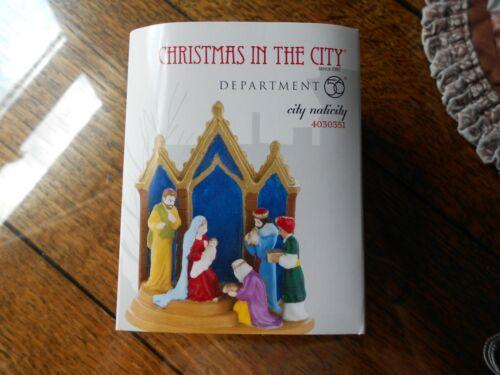 DEPT 56 CHRISTMAS IN THE CITY Accessory CITY NATIVITY NIB