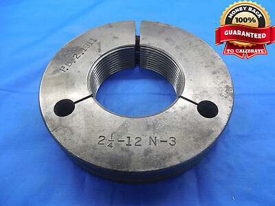 2 14 12 N 3 Thread Ring Gage 2.25 No Go Only P.d. 2.1911 Inspection 2.250