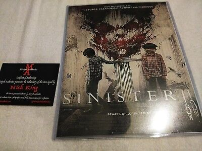 NICK KING  SIGNED MR. BOOGIE  SINISTER AUTO 11x14  PHOTO COA HORROR MINT ](Sinister Mr Boogie)