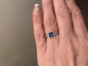 Pandora timeless elegance true blue crystal and clear size 5