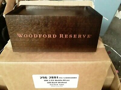 Woodford Reserve new Bottle Glorifier 7x3.5x4 solid wood dark walnut gift idea  4 Square Dark Wood