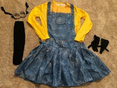 NEW ladies MINION COMPLETE HALLOWEEN COSTUME dress despicable me SMALL sz 2 4 - Despicable Me 2 Minion Halloween Costumes