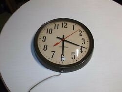 Vintage Seth Thomas School Industrial Electric Wall Clock