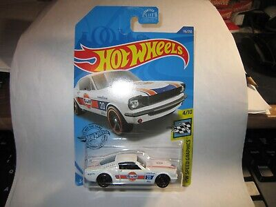 HOT WHEELS '65 MUSTANG 2+2 FASTBACK WHITE 2020 DOLLAR GENERAL EXCLUSIVE GULF