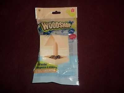 NEW DIY Woodshop Bird Feeder Kit Hobby Craft Free Ship