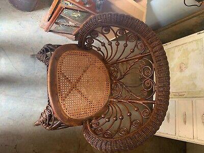 Vintage Victorian Wicker Chair. Good Condition.