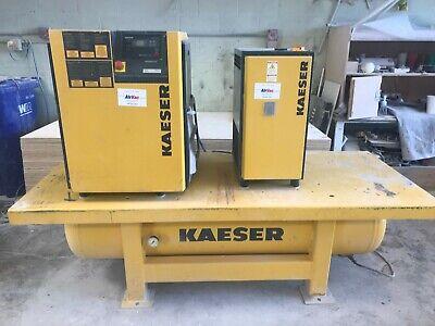 10 Hp Sm11 Kaeser Rotary Screw Air Compressor Wair Drier And 120 Gallon Tank