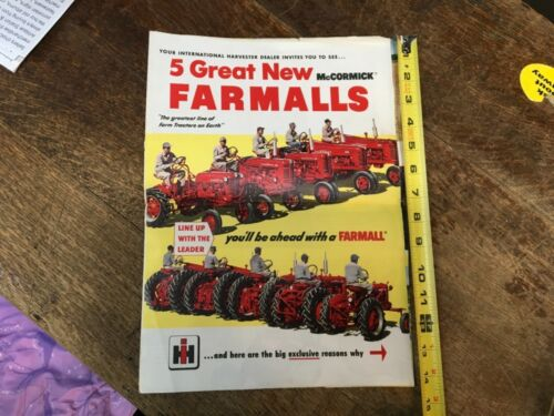 VINTAGE INTERNATIONAL HARVESTER FARMALL BROCHURE/MANUAL