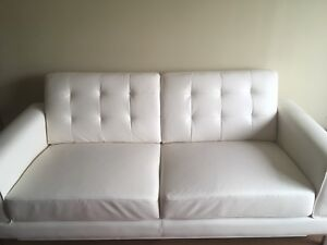 GREAT CONDITION Faux-Leather Couch