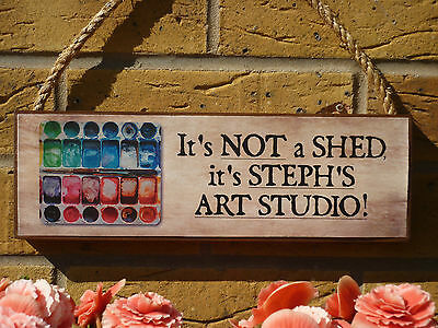 PERSONALISED ART STUDIO SIGN GARDEN SIGN OWN NAME SIGN ARTIST SUPPLIES PAINTING
