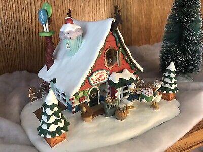 "Danbury Disney Christmas Light Up House ""Christmas Candy Cottage"" Original Box ()"