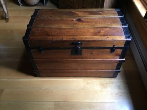 Antique Steamer Trunk/ Restored