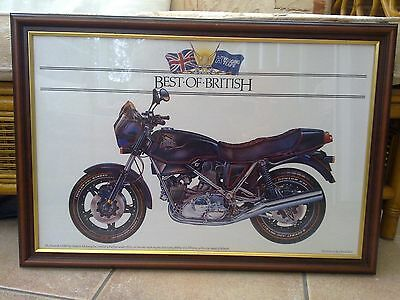 Hesketh V100 Motorcycle Framed Print (Black)