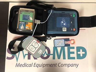 Philips Frx Aed Patient Ready New Battery And New Pads Pedi Key With Carry Case