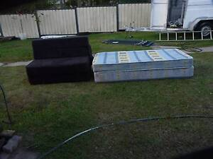 Single Bed , an fold up lounge . Oxley Brisbane South West Preview