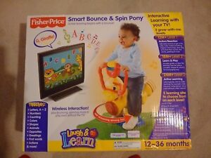 Fisher Price Smart Bounce and Spin Toy - Wireless TV connection!