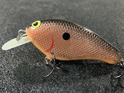 Custom Balsa Squarebill PH Custom Lures P-1 Copper Foil Orange Belly Color