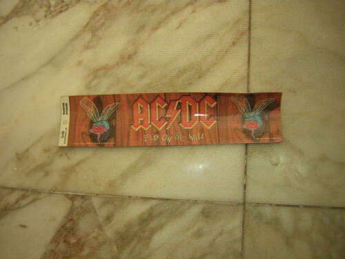 AC/DC BUMPER STICKER FLY ON THE WALL LICENSED FUNKY 1985  UNUSED VINTAGE