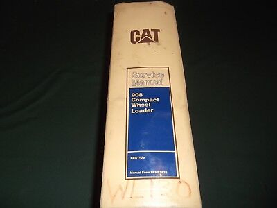 Cat Caterpillar 908 Compact Wheel Loader Service Shop Repair Book Manual 8bs1-up
