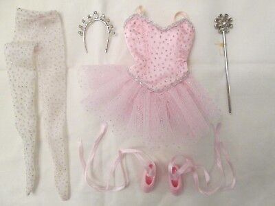 "Sugar Plum Fairy Ballerina Tiny Kitty 10"" Doll Outfit Pink Ballet Shoes NYC"