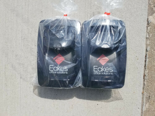 2 count Eakes Office Solutions Liquid Soap or Sanitizer Dispensers * Black * NEW