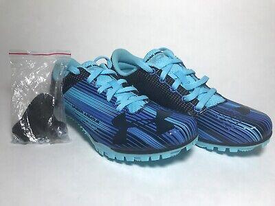 Under Armour Women's Kick Sprint Track Running Spikes Blue 1297114-448 Size 5