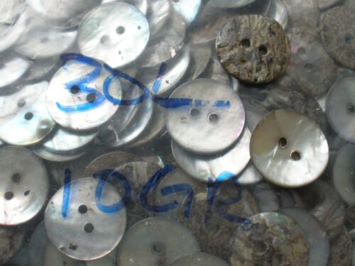 """10 Gross 19mm MOP Pearl smoke buttons 30L 3/4"""" 2-hole 1440pcs craft clothes cool"""