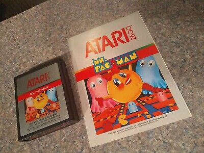 Atari 2600 Ms. Miss Pacman Pac Man With Manual
