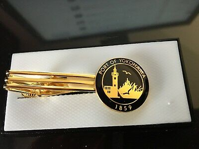 Port of Yokohama Tie Clip Clasp Bar ---- new