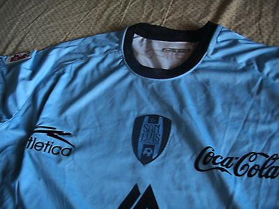 Team San Luis Mens Powder Blue L Official Soccer Jersey Atletica Visita 2011 image