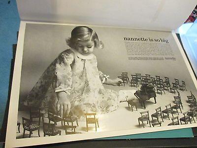 Vintage 1960s Print Ad Ads Nannette children's fashion - lot of 40 pages - LUD