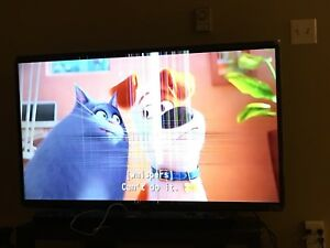 55 inch Samsung smart TV for parts or for use