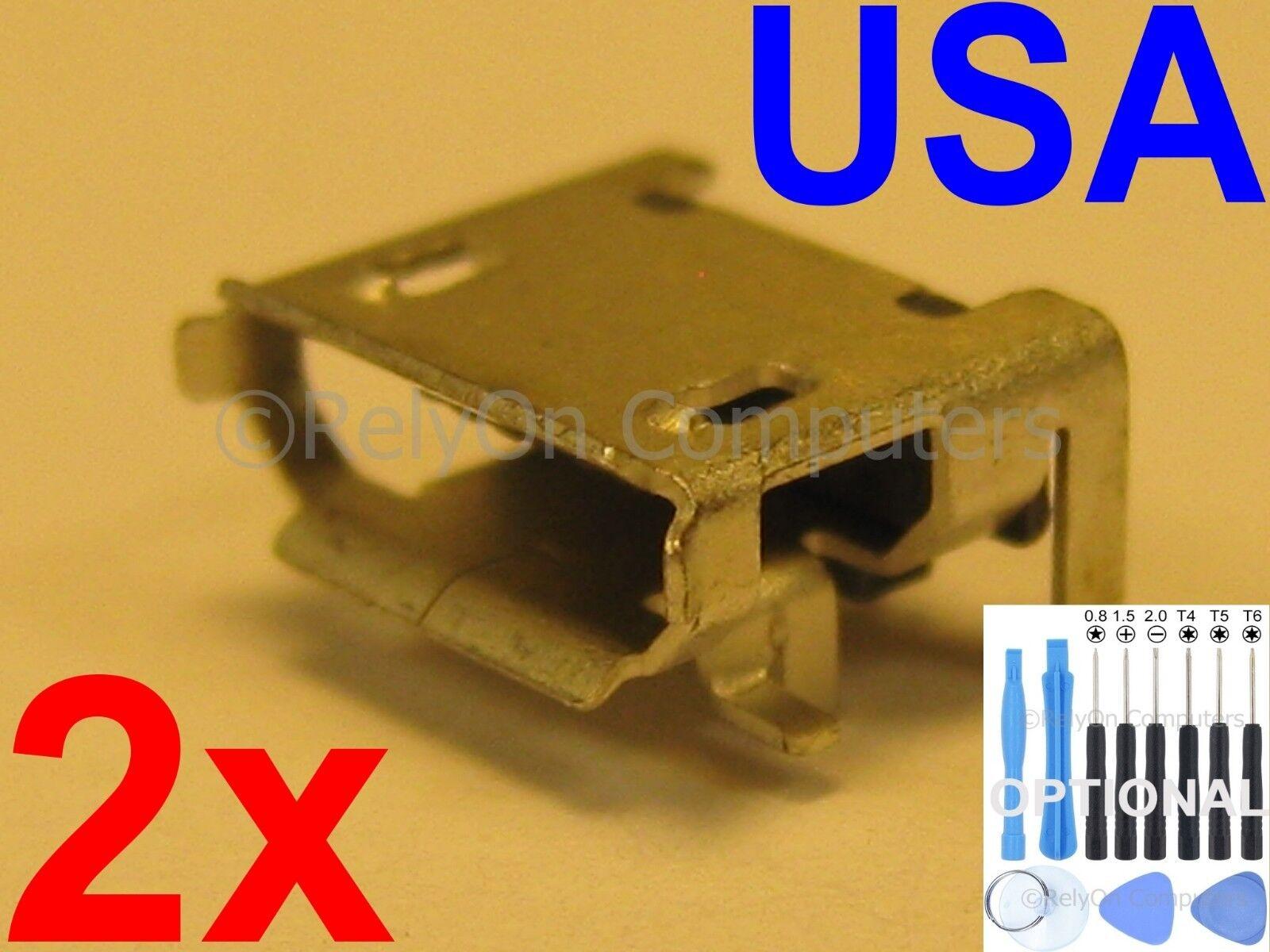2x Lot of OEM Type Micro USB Charging Port For JBL Pulse 2