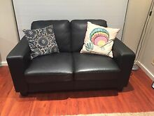 Reduced!!!X2 black leather sofa/couches near new Ballajura Swan Area Preview