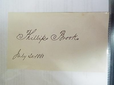 Phillip Brooks - 1881 Signature Hymn writer-O little town of (Hymn O Little Town Of Bethlehem)