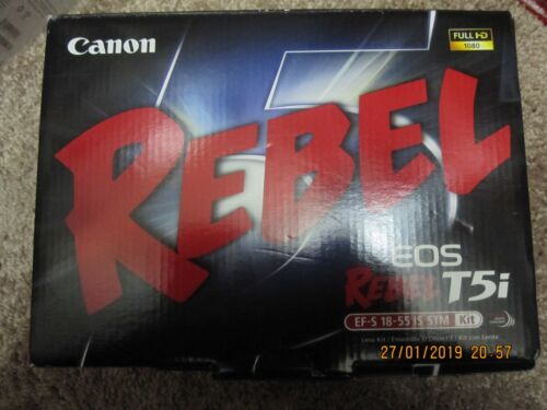 Canon EOS Rebel T5i DSLR Camera with 18-55mm IS STM Lens Black 8595B003