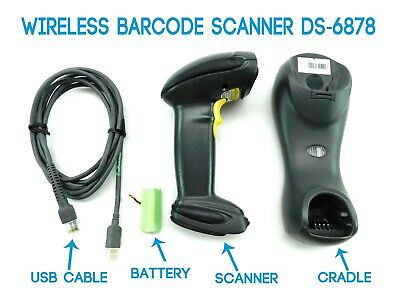 Symbol Ds6878 2d Wireless Bluetooth Barcode Scanner Cradle Battery Cable