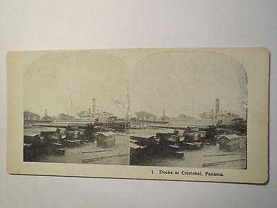 Panama - Docks at Cristobal / Stereofoto / Stereobild