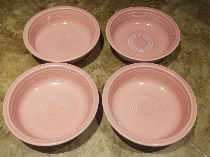 Fiesta ware Medium Cereal Bowl Rose Pink Retired Homer Laughlin Set 4