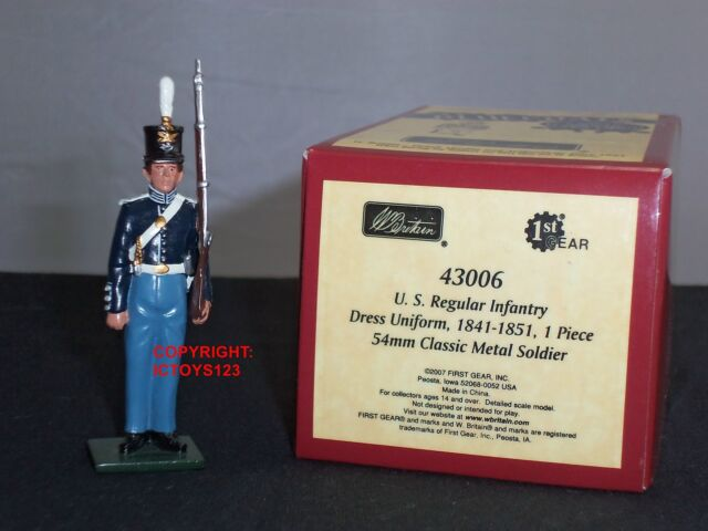 BRITAINS 43006 BLUECOAT US REGULAR INFANTRY DRESS UNIFORM 1841 METAL TOY SOLDIER