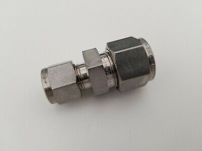 Swagelok New Stainless Steel Reducer Union 12 In X 38 In Od Ss-810-6-6