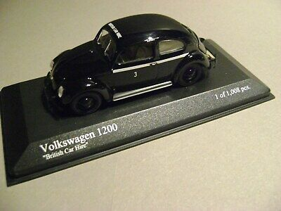 MINICHAMPS 1:43 VW 1200 EXPORT 1947 BRITISH HIRE NEUF/BOITE D'ORIGINE